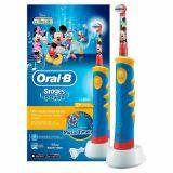 แปรงสีฟันไฟฟ้า ทำความสะอาดทุกซี่ฟันอย่างหมดจด อ่างทอง Oral B Stages Power Kids Electric Toothbrush  Mickey Mouse Clubhouse Music Timer
