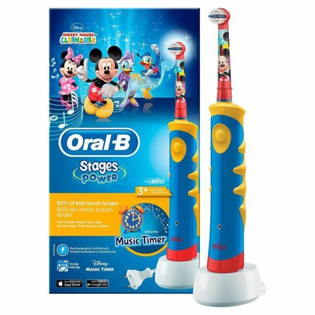 กระเป๋าสะพายพาดลำตัว นักเรียน ผู้หญิง วัยรุ่น อ่างทอง Oral B Stages Power Kids Electric Toothbrush  Mickey Mouse Clubhouse Music Timer