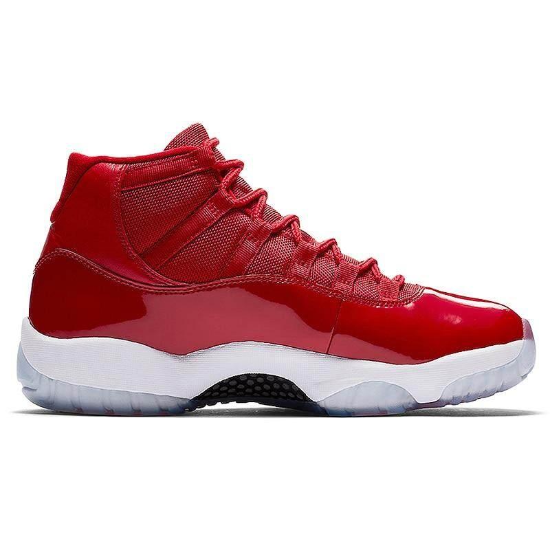 separation shoes f35f3 fed30 Nike Air Jordan 11 AJ11 Men's Basketball Shoes, Red, Shock Absorption Wear  Resistant Wraparound Non-Slip 378037 623