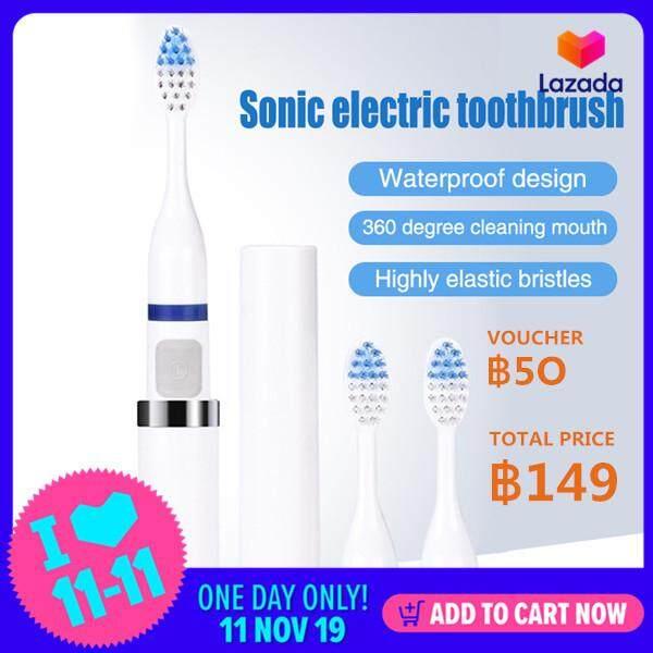 แปรงสีฟันไฟฟ้า ช่วยดูแลสุขภาพช่องปาก พิจิตร  ฿149 Only  YYSL 3 in 1 อัลตราโซนิกแปรงสีฟันไฟฟ้าแบบชาร์จทันตกรรมดูแลกันน้ำด้วย 3 หัวแปรงครอบครัวแบบพกพาที่มีประสิทธิภาพสูงฝุ่นหลักฐานความชื้นหลักฐานเดินทางมินิขนาดง่ายต่อการพกพาสำหรับเด็ก   ผู้ชาย   ผู้หญิง