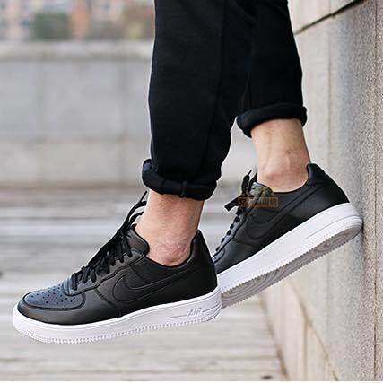 เก็บเงินปลายทางได้ รองเท้าผู้ชาย Nike รองเท้าผ้าใบ แฟชั่น  ไนกี้ Air Force 1 ULTRAFORCE Double Black (รุ่น Limited ยอดฮิตในตำนาน) เท่ทุกย่างก้าว นุ่มเบาสบายเท้า ++ลิขสิทธิ์แท้ 100% จาก NIKE พร้อมส่ง ส