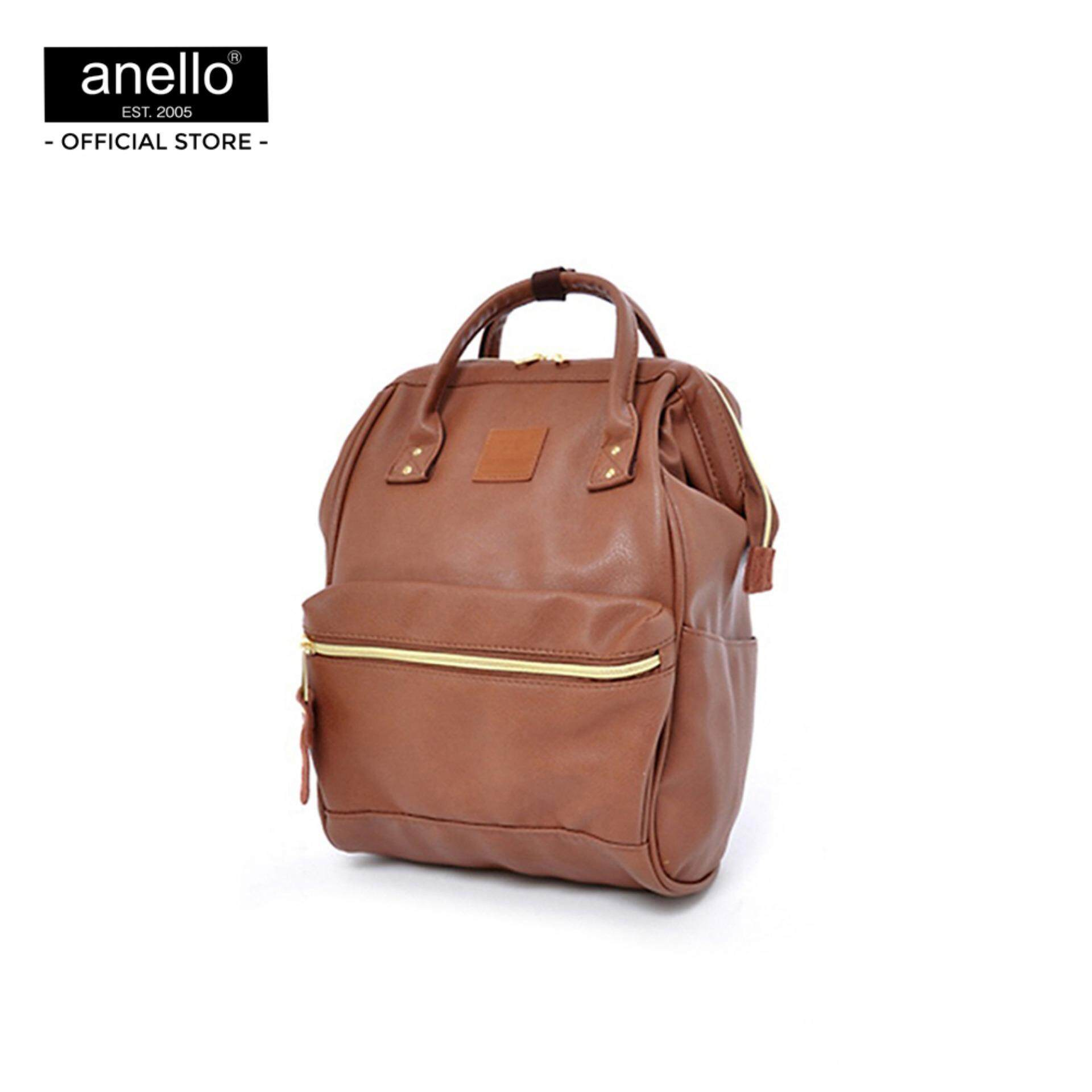 ยี่ห้อไหนดี  ระยอง anello กระเป๋า เป้ PU Mini Backpack _AT-B1212
