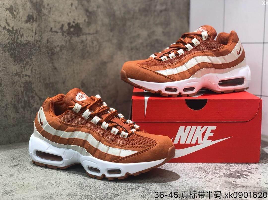 ยี่ห้อไหนดี  นนทบุรี Nike Air Max 95 ใหม่มาถึงผู้ชาย Breathable รองเท้าวิ่งกีฬากลางแจ้งรองเท้าผ้าใบ  609048-109