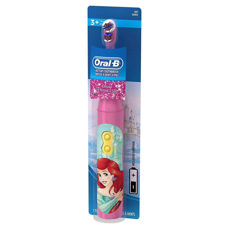 แปรงสีฟันไฟฟ้า รอยยิ้มขาวสดใสใน 1 สัปดาห์ กาญจนบุรี Oral B Kids Battery Power Toothbrush featuring Disney Princess Characters  Extra Soft Bristles  1ct