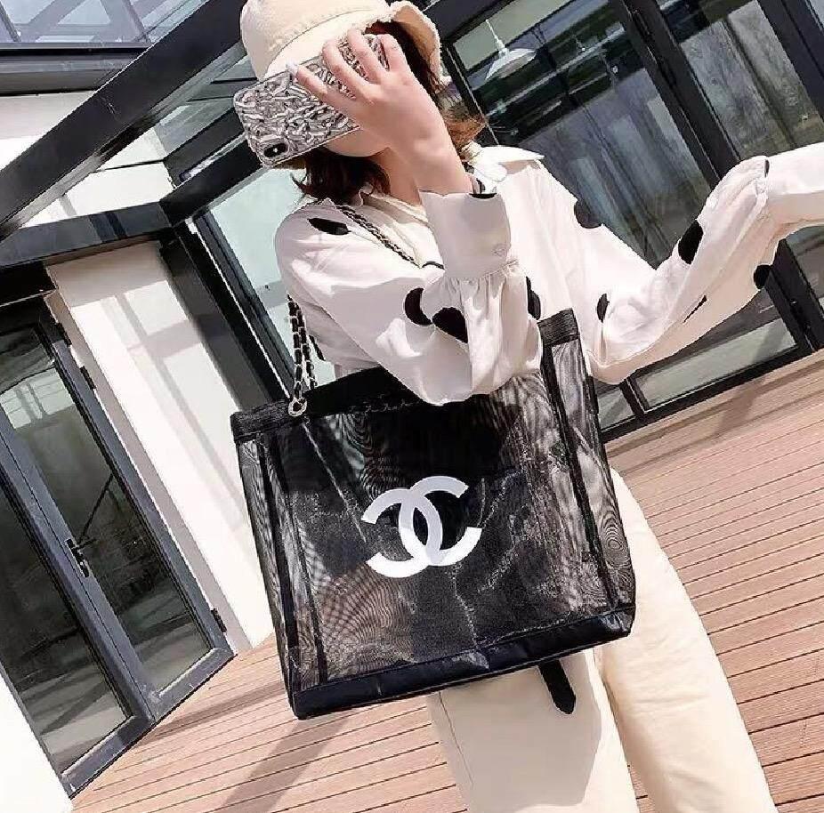 กระเป๋าถือ นักเรียน ผู้หญิง วัยรุ่น ฉะเชิงเทรา ถุงตาข่ายแบบพกพาหมอกดอกไม้ใสตาข่ายกระเป๋าถือหญิงเกาหลี ins เบากระเป๋าแฟชั่นความจุขนาดใหญ่ bag