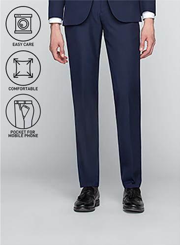 GQWhite ดีไหม ชัยภูมิ GQSize กางเกงขายาว - GQ  Slacks  Long Pants TR Fabric Solid  130-611326  Navy