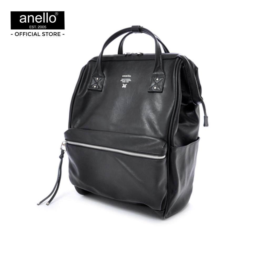 ระนอง anello กระเป๋า Large Premium Leather Backpack_AT-B1511