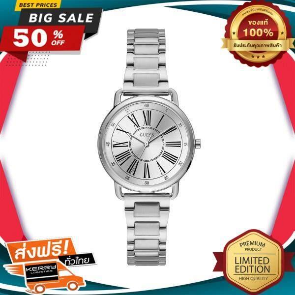 ขายดีมาก! WOW! นาฬิกาข้อมือคุณผู้หญิง GUESS นาฬิกาข้อมือผู้หญิง Jackie รุ่น W1148L1 สีเงิน ของแท้ 100% สินค้าขายดี จัดส่งฟรี Kerry!! ศูนย์รวม นาฬิกา casio นาฬิกาผู้หญิง นาฬิกาผู้ชาย นาฬิกา seiko ไซโก้