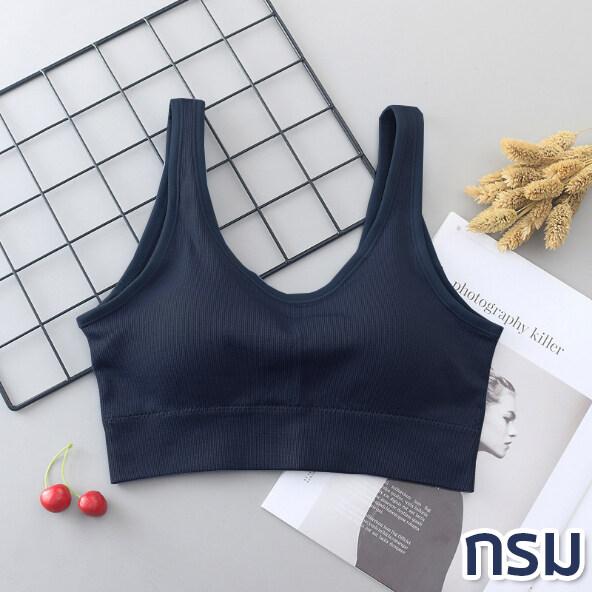TOPLIST (TL-N313) เสื้อสายเดี่ยว เสื้อครอป ท็อปครึ่งตัว ดีไซน์หลังเว้า เสริมฟองน้ำอย่างดี