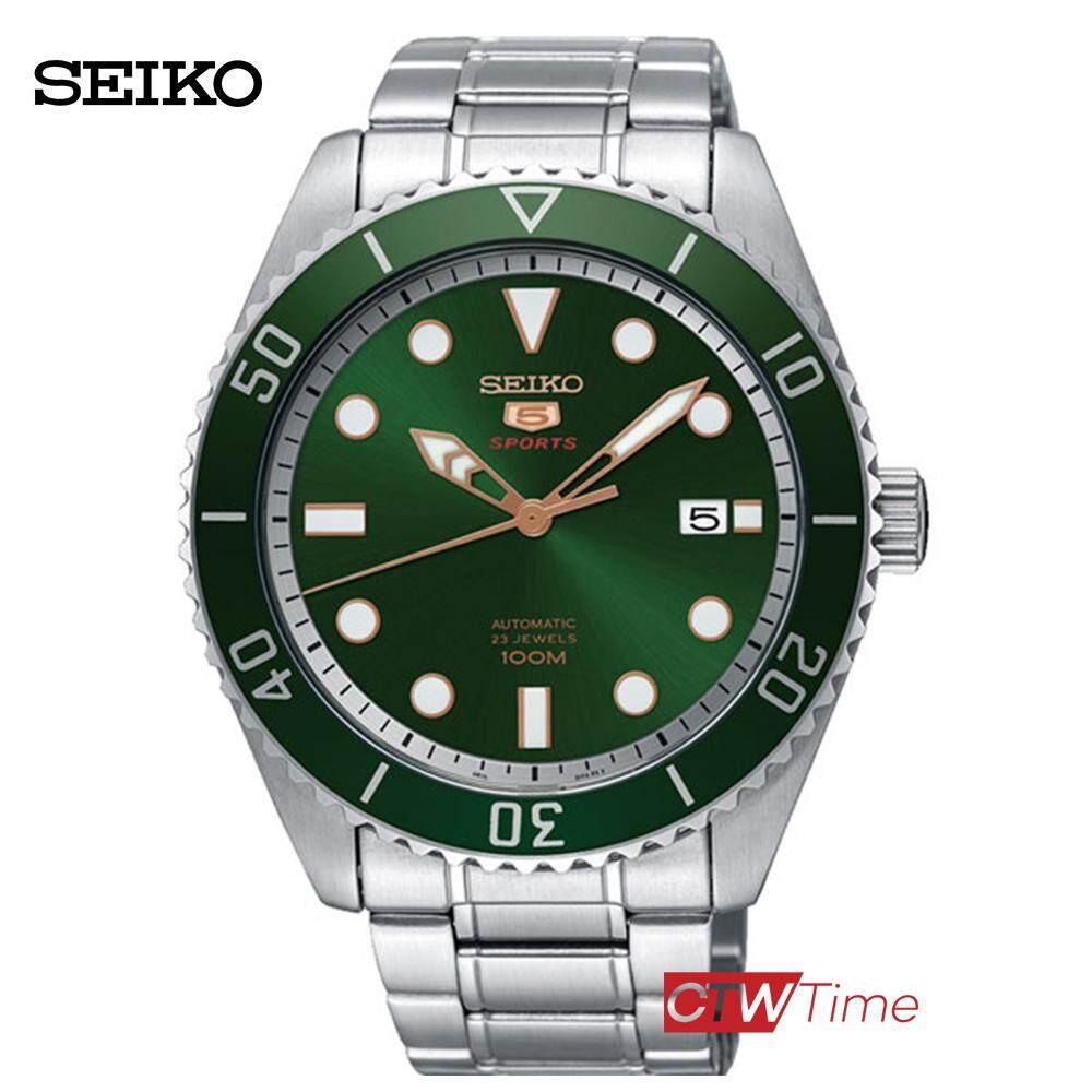 ยี่ห้อไหนดี  ชัยภูมิ SEIKO 5 Sports Automatic นาฬิกาข้อมือผู้ชาย สแตนเลสแท้ รุ่น SRPB93K1 (สีเขียว)