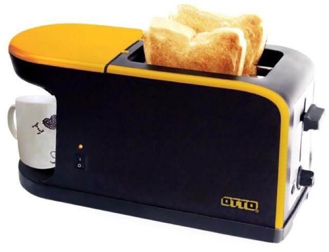 จันทบุรี OTTO รุ่น CM-020 เครื่องชงกาแฟพร้อมเครื่องปิ้งขนมปัง เตาปิ้งขนมปัง เตาปิ้ง ที่ปิ้งขนมปัง อบขนมปัง ทำอาหารเช้า Toaster ราคาถูก เก็บเงินปลายทาง ส่งฟรี