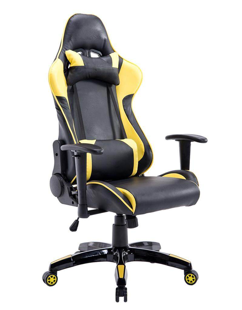 ยี่ห้อไหนดี  เก้าอี้เล่นเกมส์ Racing Gaming Chair (Yellow) Gaming chair Office Chair เก้าอี้ทำงาน เก้าอี้สุขภาพ เก้าอี้คอม เก้าอี้เกม เก้าอี้คอมนั่งสบาย เก้าอี้สำนักงาน เก้าอี้ผู้บริหาร เก้าอี้ทำงาน เฟอร์นิเจอร์สำนักงาน โฮมออฟฟิศ เก้าอี้ประชุม