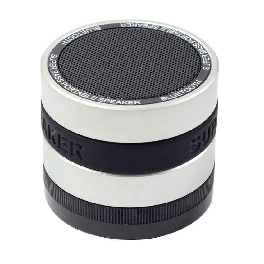 1 PCS Bluetooth Wireless Speaker Mini Super Bass ForIphone(Silver)- - intl