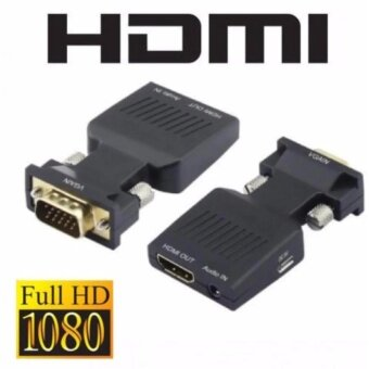 1080P VGA to HDMI Video Converter Adapter with Mini USB Power Cable 3.5mm Audio Cable vga2hdmi for HDTV DVD PC