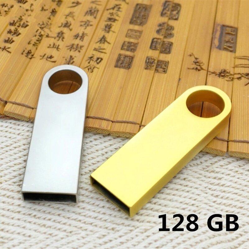 ข้อมูล 128GB Metal Key USB Waterproof Character High-speed Usb Computer Notebook Car Speakers Common U Disk (Silver) - intl