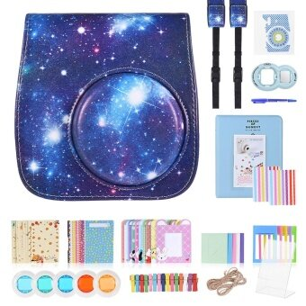13 in 1 Accessories Kit for Fujifilm Instax Mini 8/8+/8s/9 Include Camera Case/Strap/Sticker/Selfie Lens/Colored Filter/Album/Photo Frame/Border Sticker/ Corner Sticker/Pen - intl