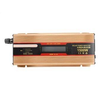1500W Car Power Inverter DC 12V to AC 220V Square Wave Inverter LED Display - intl