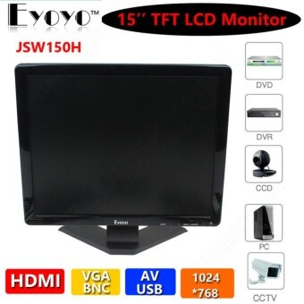 "15\ TFT LCD Widescreen CCTV มอนิเตอร์ 1024×768 BNC AV HDMI VGA USB For DVR CCTV – intl"""