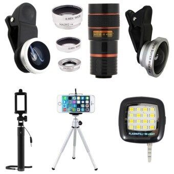 1Choice ชุดอุปกรณ์สำหรับถ่ายภาพ สำหรับโทรศัพท์มือถือ Clip Lens 3 in1+Super Wide 4X+Len Z ...