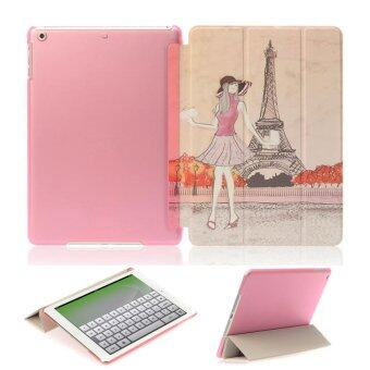 1st Cyber เคสไอแพด 2/3/4 ปารีส Vintage Paris Eiffel Tower Pink hardPlastic Case For Apple iPad 2/3/4
