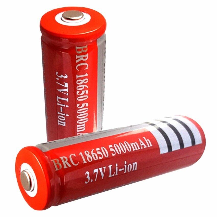 (2ก้อน)ถ่านชาร์จ BRC 18650 3.7V Li-ion 5,000mAh(สีแดง)