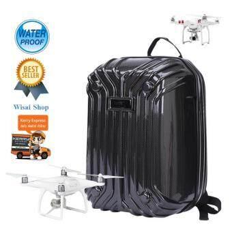 2017 กระเป๋าเป้ Hardshell Backpack สำหรับ Phantom 3 Standard / Advance / Profesional และ Phantom Phantom 4 / Profesional / Profesional Plus - สีดำ เคฟล่า