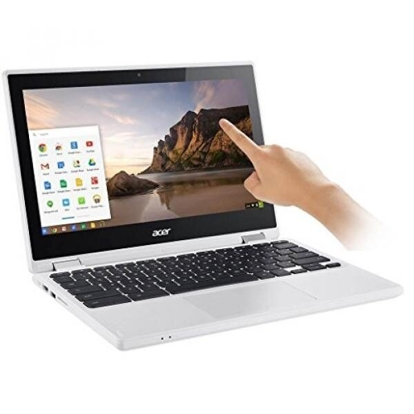 2017 Newest Acer Premium R11 11.6' Convertible 2-in-1 HD IPS Touchscreen Chromebook - Intel Quad-Core Celeron N3160 1.6GHz, 4GB RAM, 32GB SSD, Bluetooth, HD Webcam, HDMI, USB 3.0, Chrome OS - White - intl