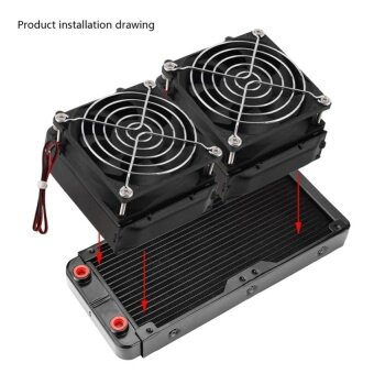 240mm G4/1 Aluminum Computer Radiator Water Cooling Cooler For CPULED Heatsink - intl