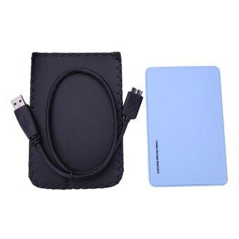 2.5/// USB 3.0 SATA Hd Box HDD Hard Drive External EnclosureCase(Blue) - intl