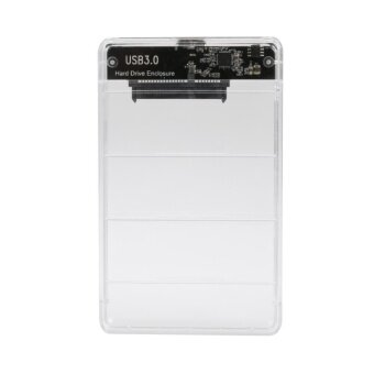 2.5inch SSD to USB3.0 High Speed Mobile HDD Box for Notebook PC(Transparent) - intl