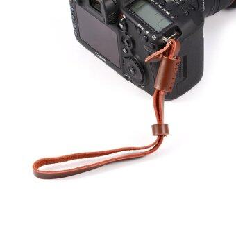 26cm PU Leather Camera Wrist Strap Camera Lanyard For Sony SLRCameras(brown) - intl ...