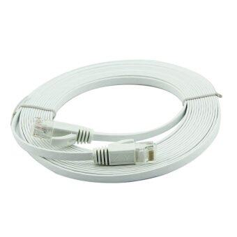 30m Ultra-Thin Flat Cable Patch Network Internet Cat.6 RJ45 (White)