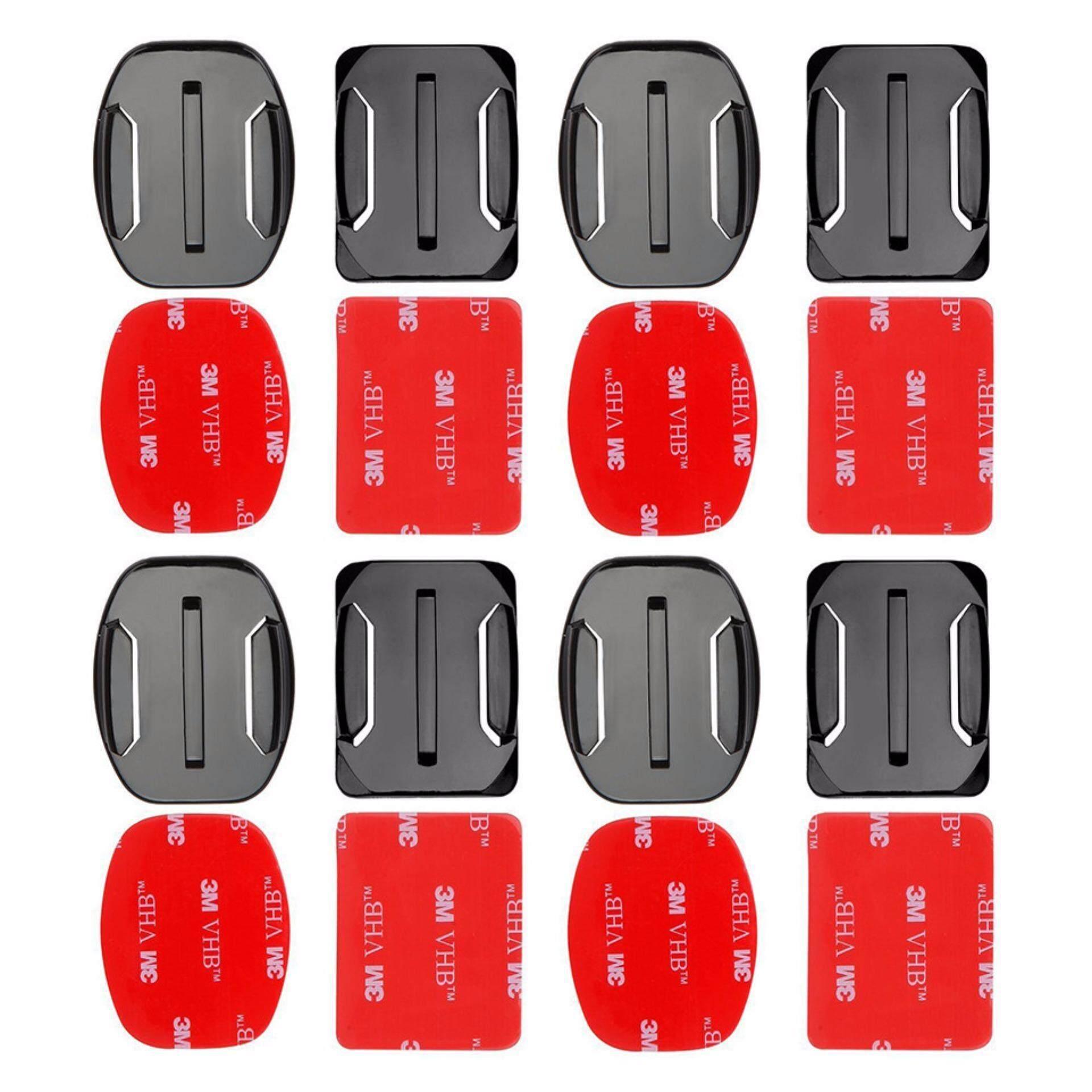 ไปขายตัวอุปกรณ์ชุด 4ชิ้นแบน และโค้งเข้ายึดฐาน 3แผ่นสติ๊กเกอร์ VHBสำหรับ GoPro Hero 5 4 3 2 xiaomi yi 4กิโลไบต์ SJ4000 SJ5000 SJ7000กล้อง