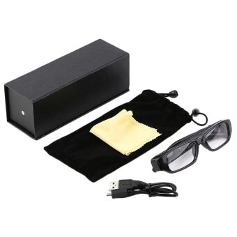 โอมินิ 4จิกะไบต์ 720P HD กล้องแว่นตาแว่นตากล้องวิดีโอเทป DVR สีดำ