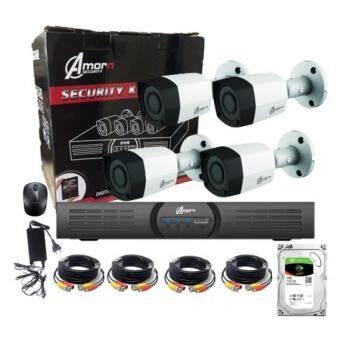 ชุดกล้องวงจรปิดสำเร็จรูป 4 กล้อง ระบบ HDCVI ความละเอียด 1 ล้านพิกเซล พร้อม ฮาร์ดดิส (สามารถติดตั้งเองได้ มีคลิปสอนการติดตั้ง)