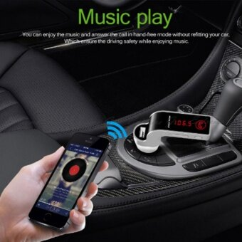 4-in-1 Hands Free Wireless Bluetooth FM Transmitter G7 + AUX Modulator Car Kit MP3 Player SD USB LCD Car Accessories- intl