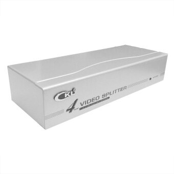 4-Port / 1 to 4 VGA Monitor Splitter With Booster - 250Mhz - intl
