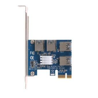 4 Slots PCI-E 1 to 4 PCI Express 16X Slot External Riser CardAdapter Board - intl