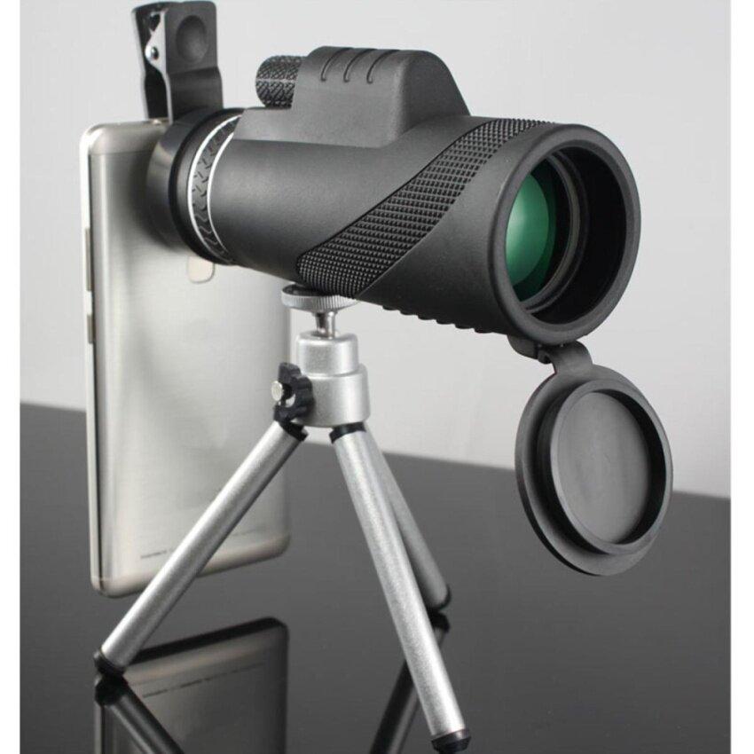 40x Zoom HD Optical Monocular Telescope Lens Mobile Phone Camera +Tripod 7319 Black - intl