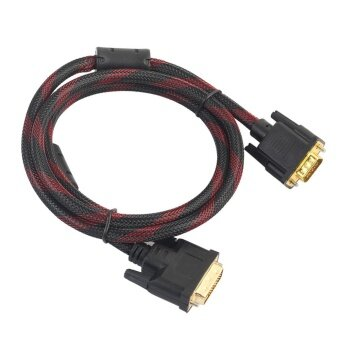 4.6ft. DVI-I 24+5 Turn To VGA Connect Wire Cable Male to Male VideoLine - intl