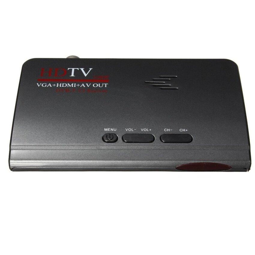 4pcs Digital Terrestrial HDMI 1080P DVB-T T2 TV Box VGA AV CVBS Tuner Receiver Remote US - intl