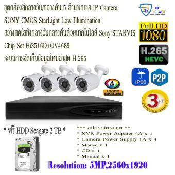 5MP 4CH Starlight H.265 + NVR Kits