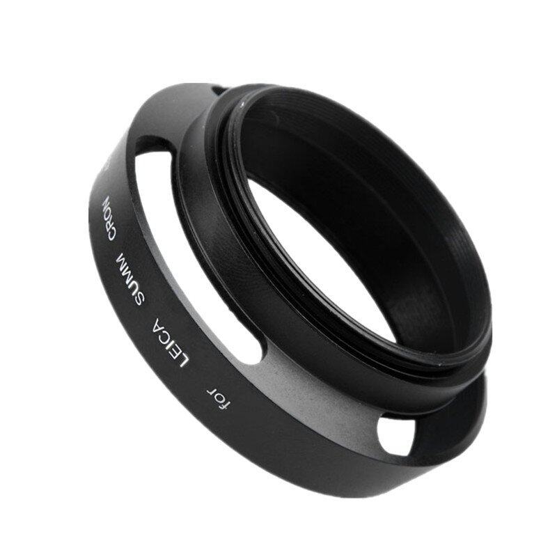52mm Vented Curved Metal lens Hood for Leica Canon Nikon SonyPanasonic Olympus