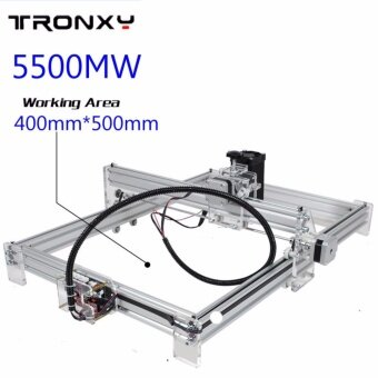 ขอเสนอ 5500mW 40x50cm Desktop DIY Violet Laser Engraver Picture CNCPrinter Assembly - intl