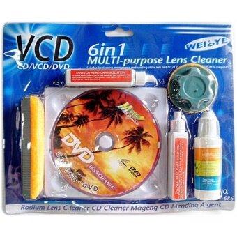 จัดโปรโมชั่น ชุดแผ่นทำความสะอาดหัวอ่าน 6 IN 1 CD/VCD/DVD CLEANING