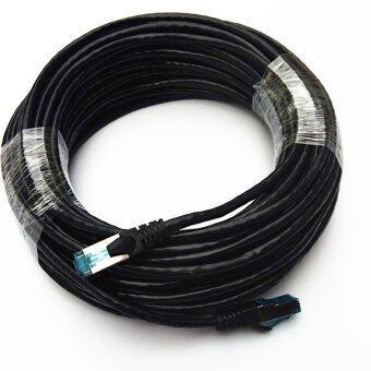 60M Ethernet Cable Blue CAT5 CAT5E RJ45 Network Ethernet Patch Cord Lan Cable RJ-45 Computer Accessories Black - intl
