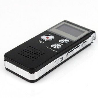8G Usb Rechargeable Lcd Display Dictaphone Mp3 Player Audio Digital\nRecorder Voice Black Black