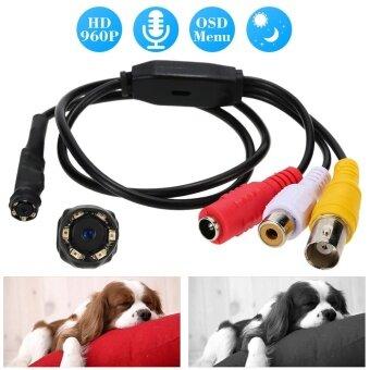 960P Mini Audio Pinhole Color CCTV Camera 6pcs IR LEDs Night Vision 1.3MP Micro Hidden Spy Camera for Home Security PAL System Tomnet - intl