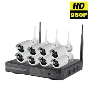 ซื้อ/ขาย กล้องวงจรปิด 960P Wireless WIFI IP Camera NVR Kit CCTV 8CH
