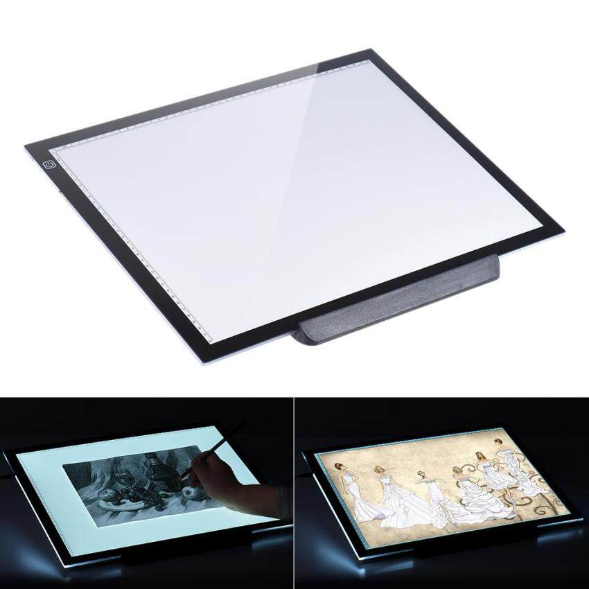 ขายถูก A3 47 * 37cm 21.4 inch LED Artist Stencil Board Tattoo DrawingTracing Table Display Light Box Pad LED Copy Board IntelligentTouch Control 3 ...